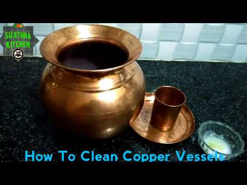 How To Clean Copper Vessels At Home | Simple Trick To Clean In Tamil