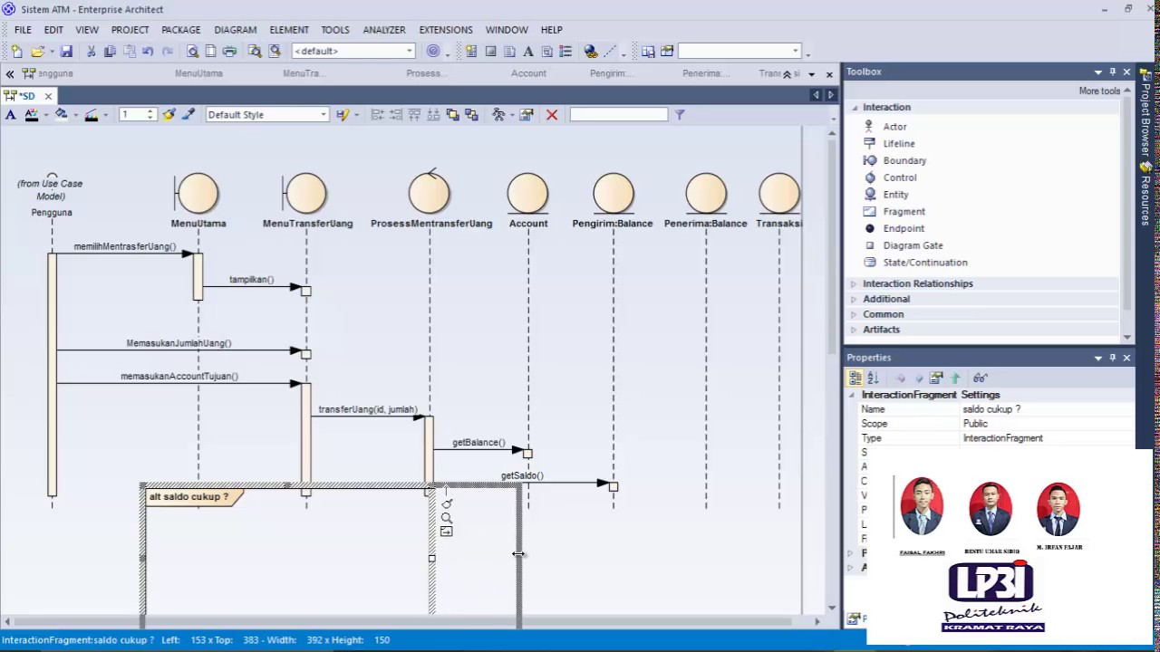 sequence diagram system atm enterprise architect [ 1280 x 720 Pixel ]