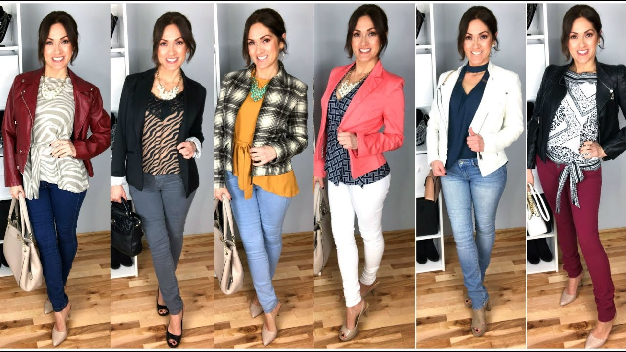 CASUAL OFFICE to HAPPY HOUR | Skinny Jean Outfit Ideas 3