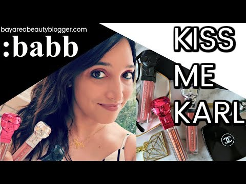 Kiss Me Karl Karl Lagerfeld ModelCo Lip Lights Lipsticks Swatches, Try On, And Reviews