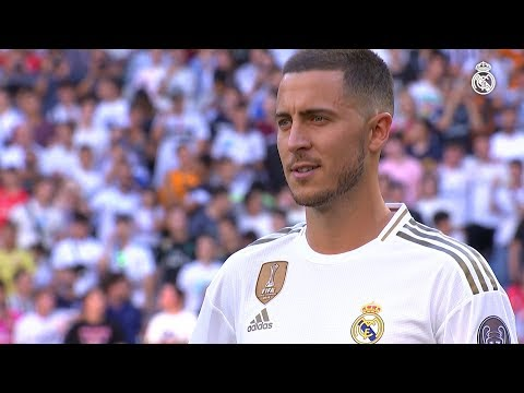 Eden Hazard presentantion for Real Madrid 2019