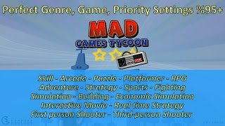 Settings for perfect game (Genre / Game and Priority) - %95+ | Mad Games Tycoon