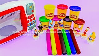 7 Sausages Play Doh Modelling Clay I Donald Duck Toys I Learn Colors YL Toys Collection