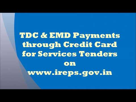TDC & EMD Payments through Credit Card for Services Tenders