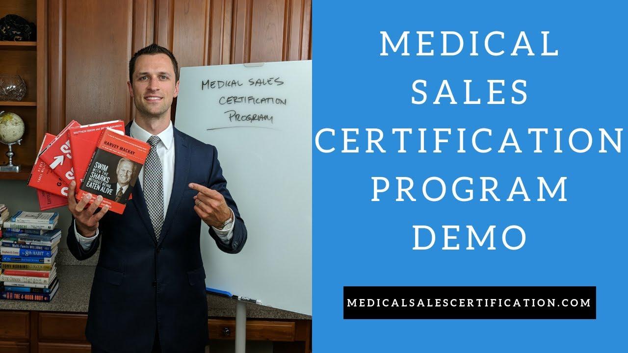 Sales Training Medical Sales Certification Program Demo Youtube