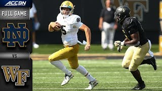 Notre Dame vs Wake Forest Full Game | 2018 College Football