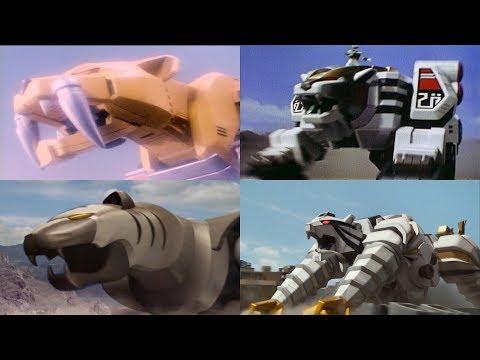 Power Rangers summon the Tiger Zords | Mighty Morphin - Megaforce | Superheroes Tigers | Neo-Saban