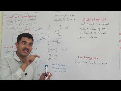 concept of free energy, Entropy, enthalpy and laws of thermodynamics in english version byu dr Hadi