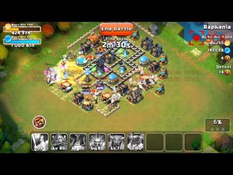 Castle Clash Raid Strategy 01: Destroying Overbuilt Bases - Dirty Distaggio