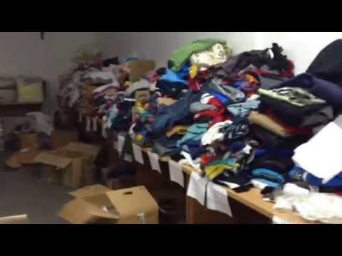 Samos Refugees Aid warehouse November 2015