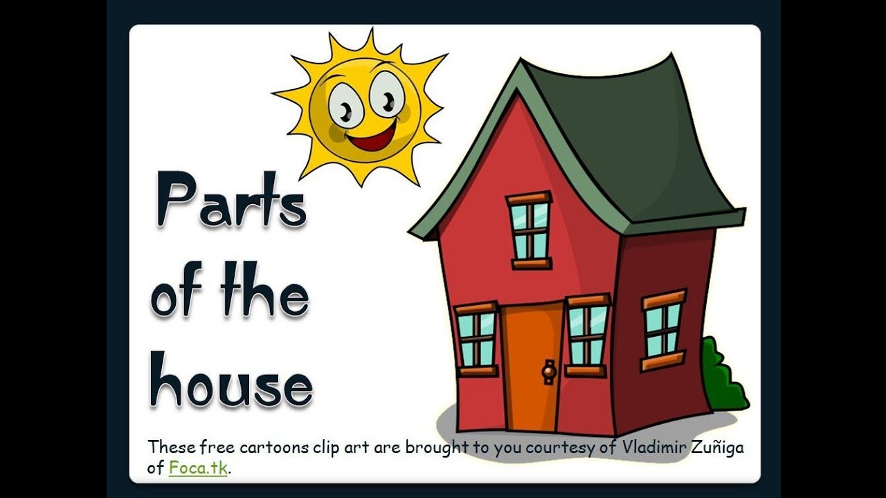 medium resolution of Parts of the House -English Language - YouTube