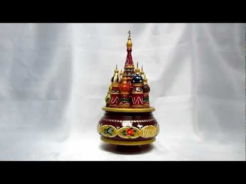 Russian Music Box St. Basil's Cathedral (Temple of Basil the Blessed) РОССИЯ