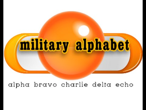 Military Alphabet And How To Pronounce - Youtube