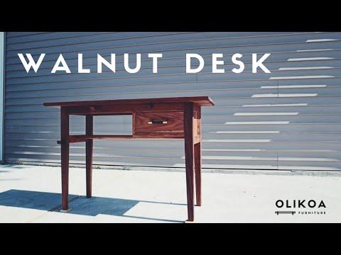 Custom Writing Desk (Solid Walnut)
