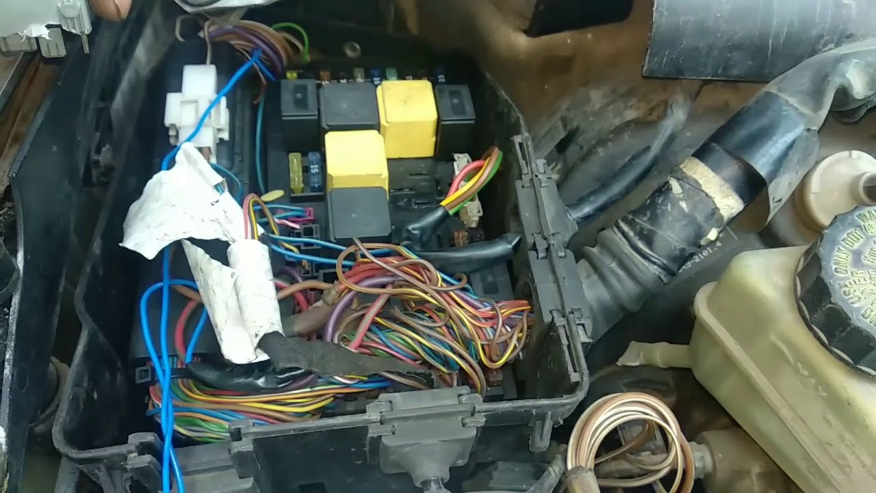 Mercedes Benz starter relay fuse box location starting problem  YouTube