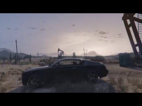 ambient screensaver Grand Senora Desert - No HUD Gameplay - Grand Theft Auto V