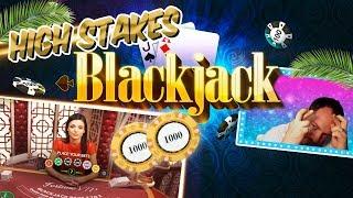 INSANE HIGH STAKES BLACKJACK SESSION! TILT ALERT £1,000 A HAND!!