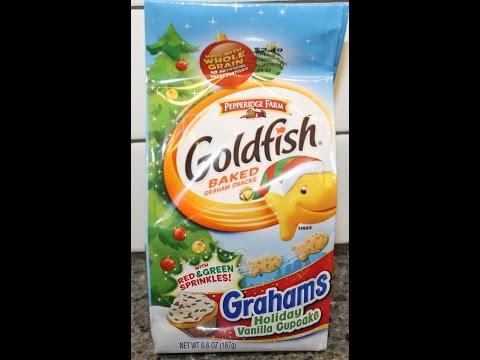 Pepperidge Farm Goldfish Grahams Holiday Vanilla Cupcake Review