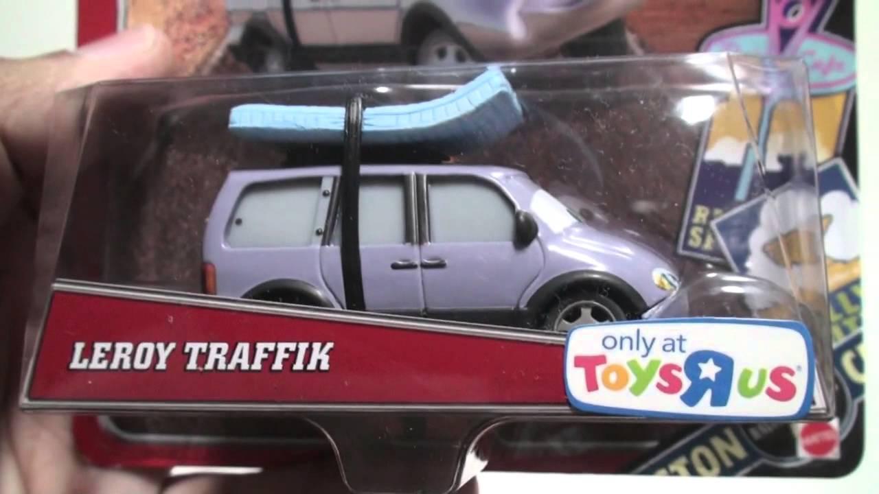 2014 Disney Pixar Cars Toys R Us Radiator Springs Classic Leroy Traffik Back On The Map Gift Set Youtube
