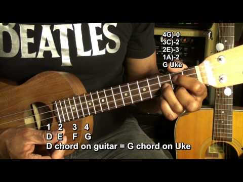 From Guitar To Ukulele In 60 Seconds Tutorial Lesson EricBlackmonMusicHD