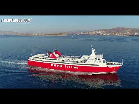 PHIVOS  (Ro-Ro/Passenger Ship) arrival at Piraeus Port (Greece) AERIAL DRONE VIDEO 4K