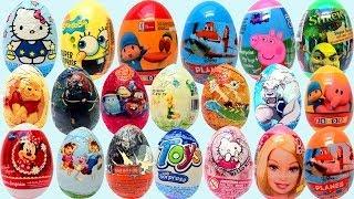 21 Surprise Eggs kinder sorpresa huevo chocolate by unboxingsurpriseegg
