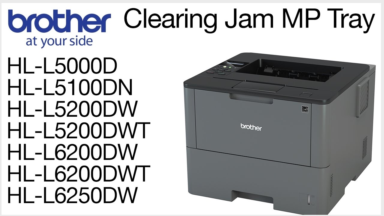 Clearing the Jam MP Tray error - HLL5200DW or HLL6200DW