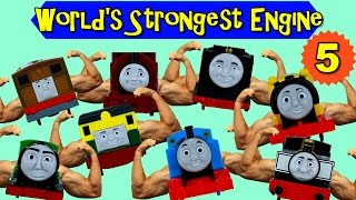 THOMAS AND FRIENDS WORLD'S STRONGEST ENGINE #5 |TRACKMASTER THOMAS THE TANK TOY TRAINS