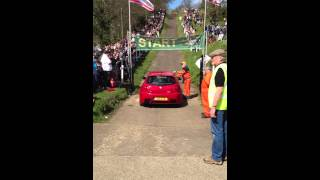 Alfa Romeo 147 GTA On the Brooklands Test Hill at Auto Italia 2013 Run 2