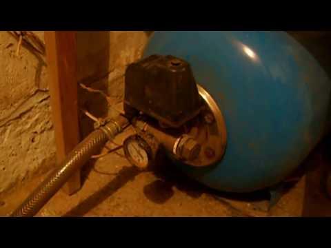 Простое водоснабжение частного дома своими руками. Ч.1  Вибрационный насос + гидроаккумулятор