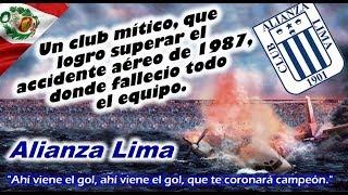 Clubes del Mundo: ALIANZA LIMA (Perú) - Mitico club que logró superar el accidente aéreo de 1987