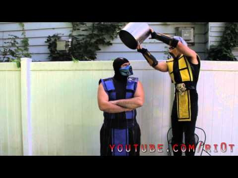 Scorpion and Sub-Zero ALS ice bucket challenge