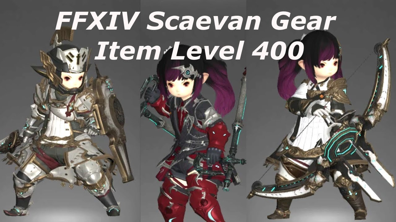 FFXIV Patch 4 4 Scaevan Gear Augmentation Item Level 400 - Stormblood