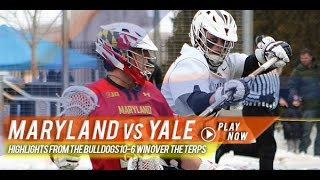 Maryland vs Yale | 2015 College Lacrosse Highlights