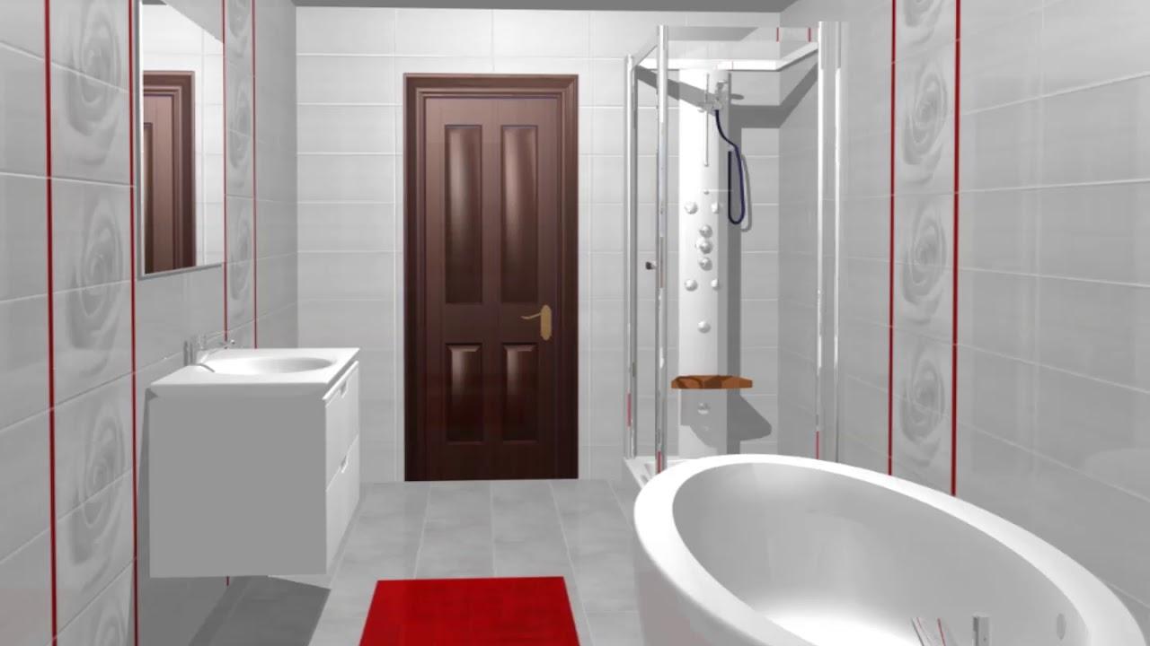 Model de design pentru baie gresie si faianta stripes for Modele gresie si faianta baie