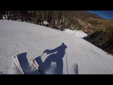 Ron's slalom course run - Red River ski area
