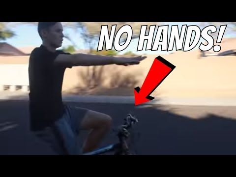 How To Ride A Bike With NO HANDS For Kids Or Beginners!