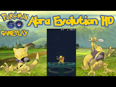 Pokemon Go Abra Evolving into Kadabra HD - Evolução em HD
