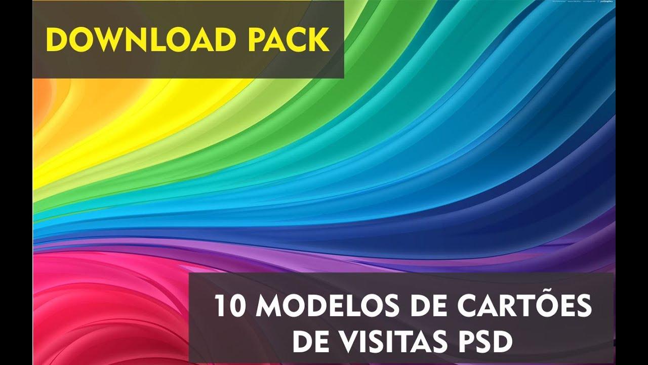 Cartões De Casamento: 10 Modelos Cartões De Visita PSD PACK #1