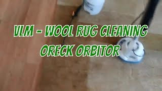 Cleaning thick wool rug for customer - Low moisture carpet cleaning