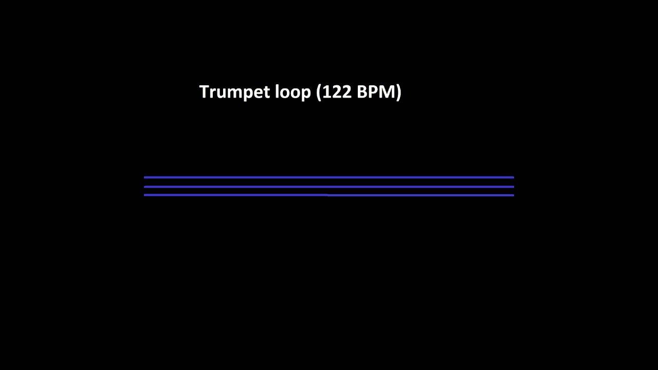 Trumpet loop 122 BPM - Free sample. - YouTube