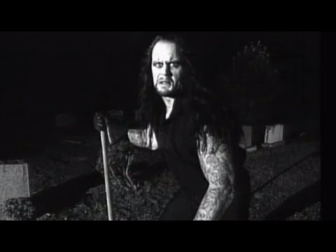 The Undertaker prepares a grave for Mankind: Raw, Sept. 30, 1996