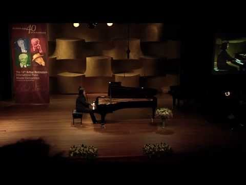 Antonii Baryshevskyi at the 2nd stage of the Rubinstein 2014 competition