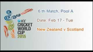 ICC Cricket World Cup 2015 Schedule: All Match Fixtures