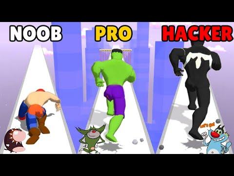 NOOB vs PRO vs HACKER Mashup Hero Android iOS Oggy And Jack Voice