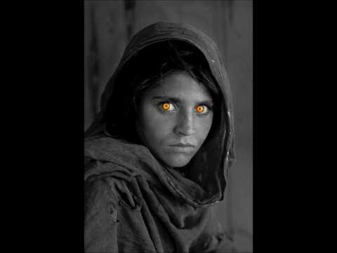Black And White Picture With Color Eyes