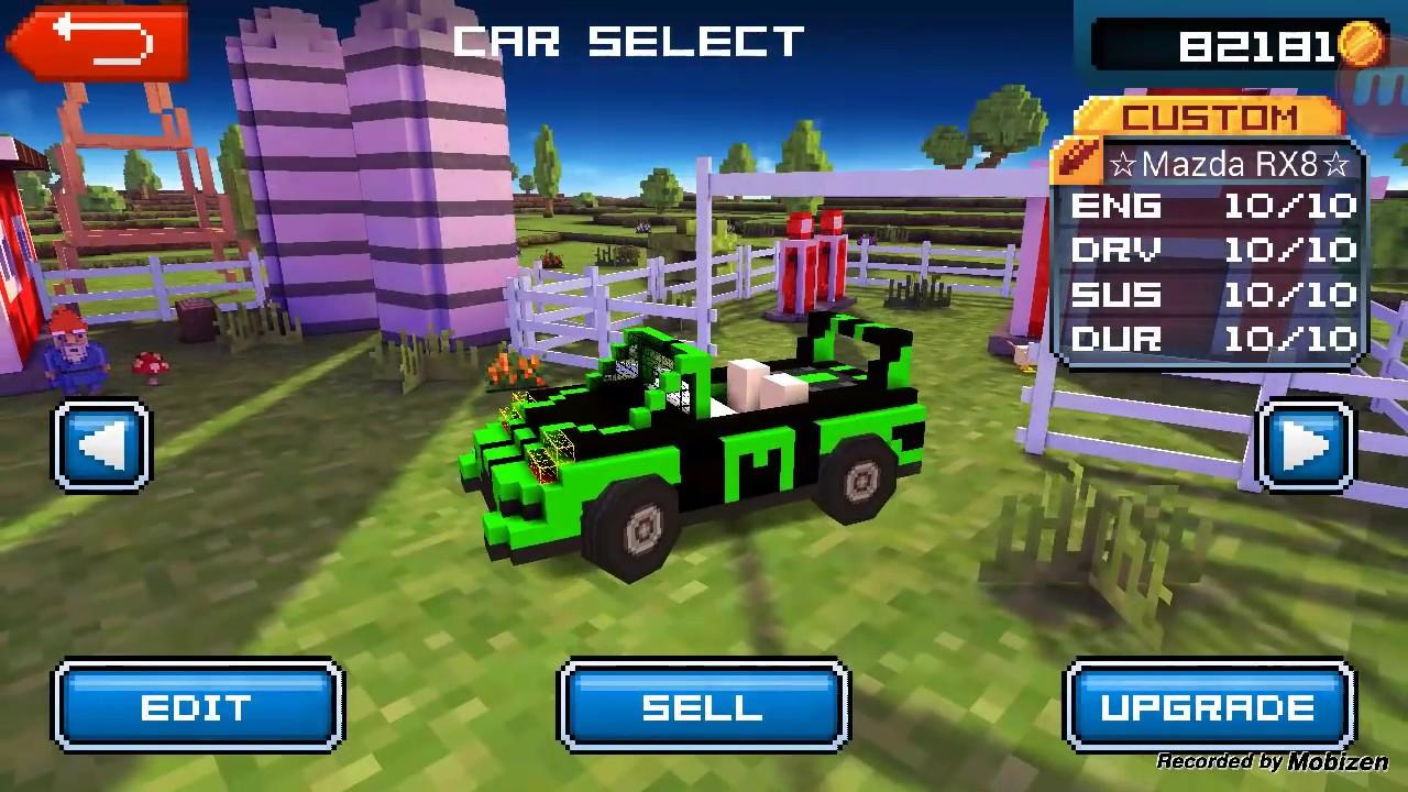 Blocky Roads Cars