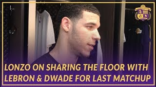 Lakers Post Game: Lonzo Ball on Sharing the Floor with LeBron & D-Wade On History Night