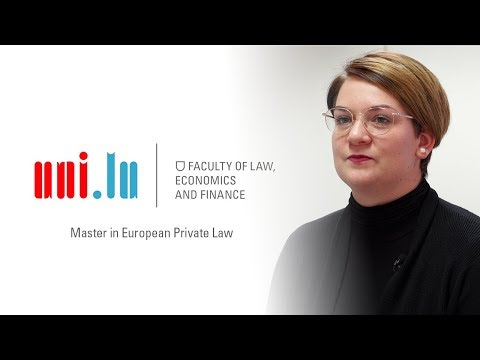 Master in European Private Law