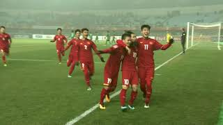Nguyen Cong Phuong taps in the opening goal for Vietnam